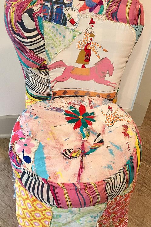 Handmade Patchwork Slipper Chair