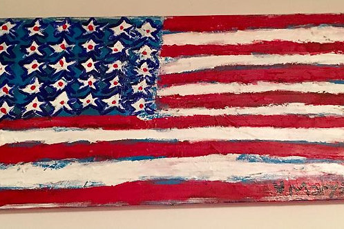 """Long American Flag"""
