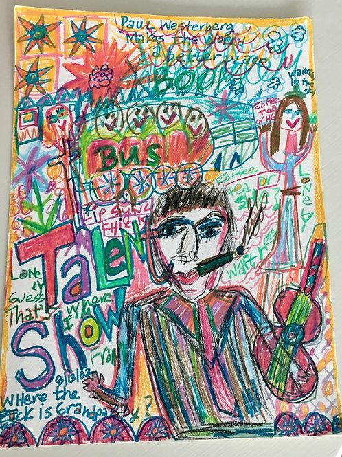 """Paul Westerberg Talent Show"" Unframed on Paper"