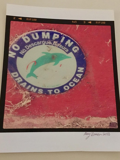 """No Dumping Laguna Beach"" Photo (Unframed)"