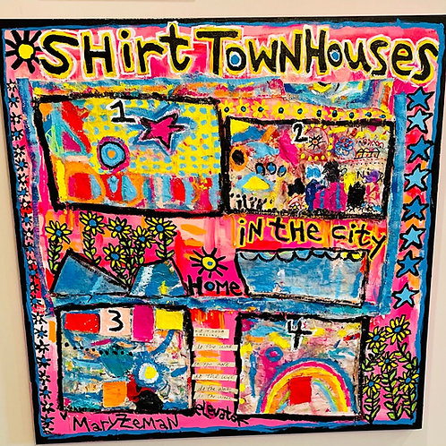 "Shirt Townhouses 36""X36"""