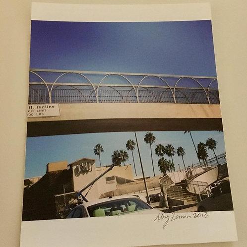 """Swirly Santa Monica Bridge"" Photo (Unframed)"
