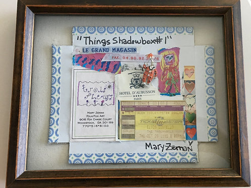 """Things Shadowbox 1"" Framed"