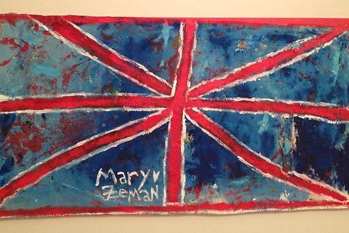 Union Jack Flag Acrylic on Canvas