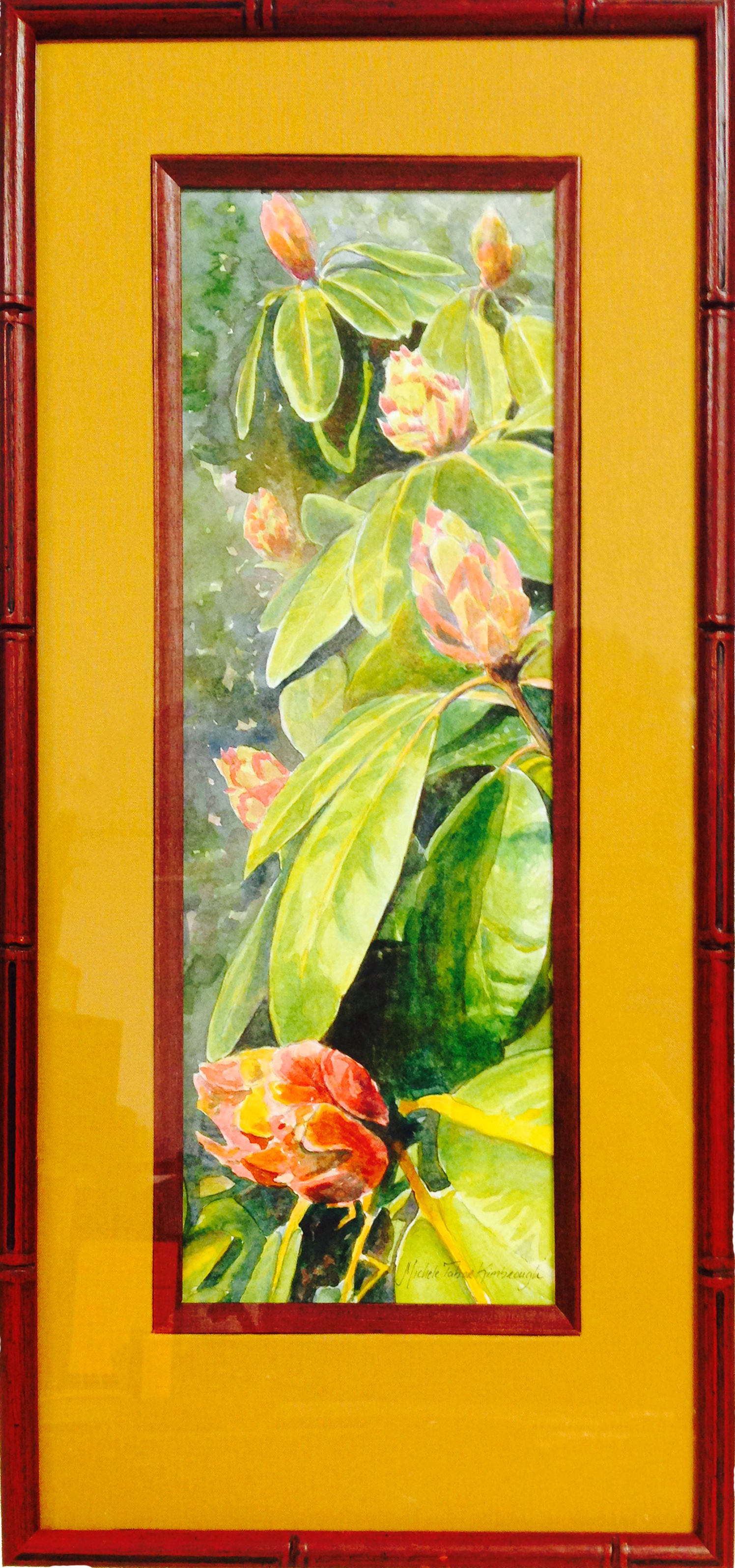custom framing watercolor flower