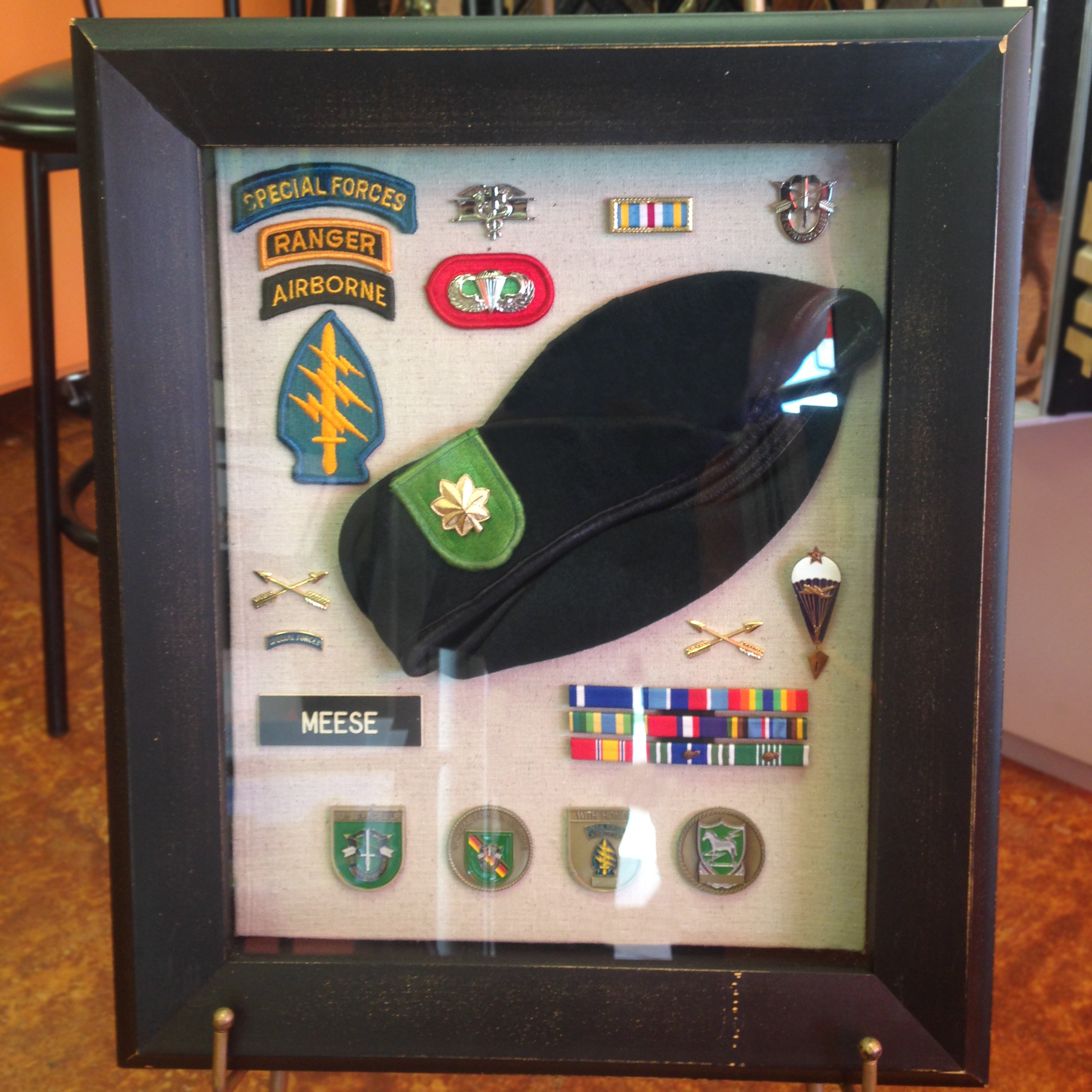 custom framing shadowbox veteran