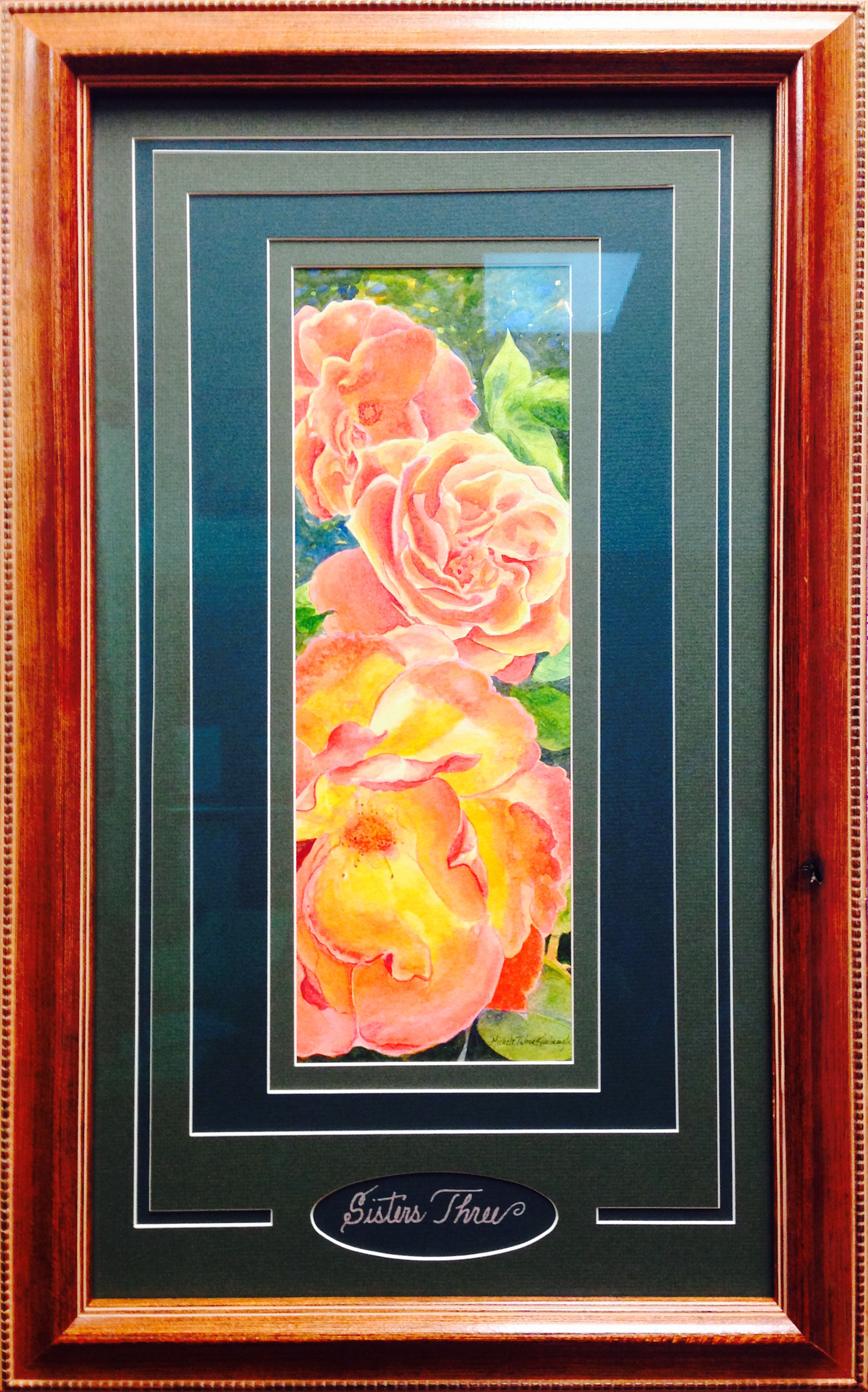 custom framing watercolor painting