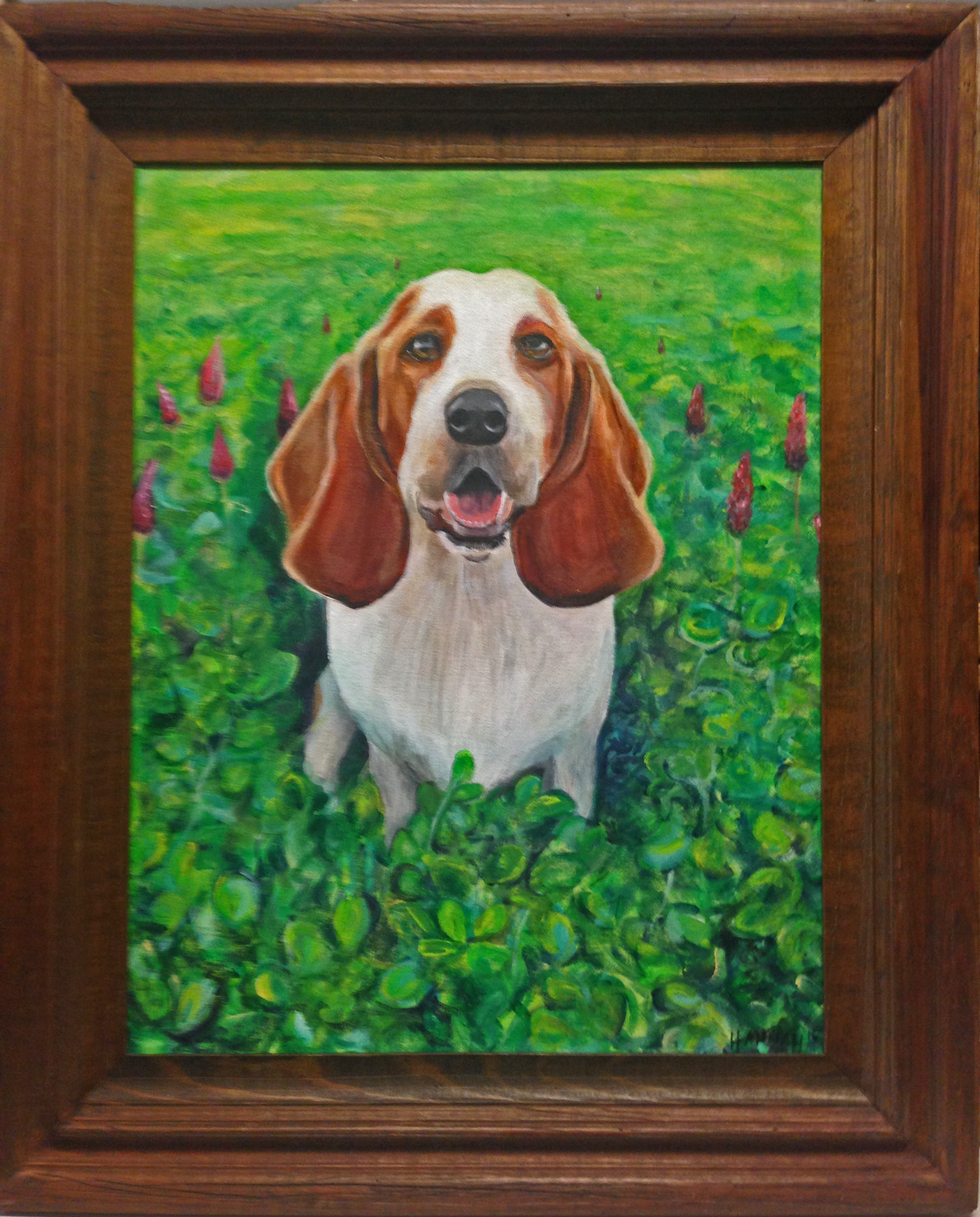 custom framing dog painting