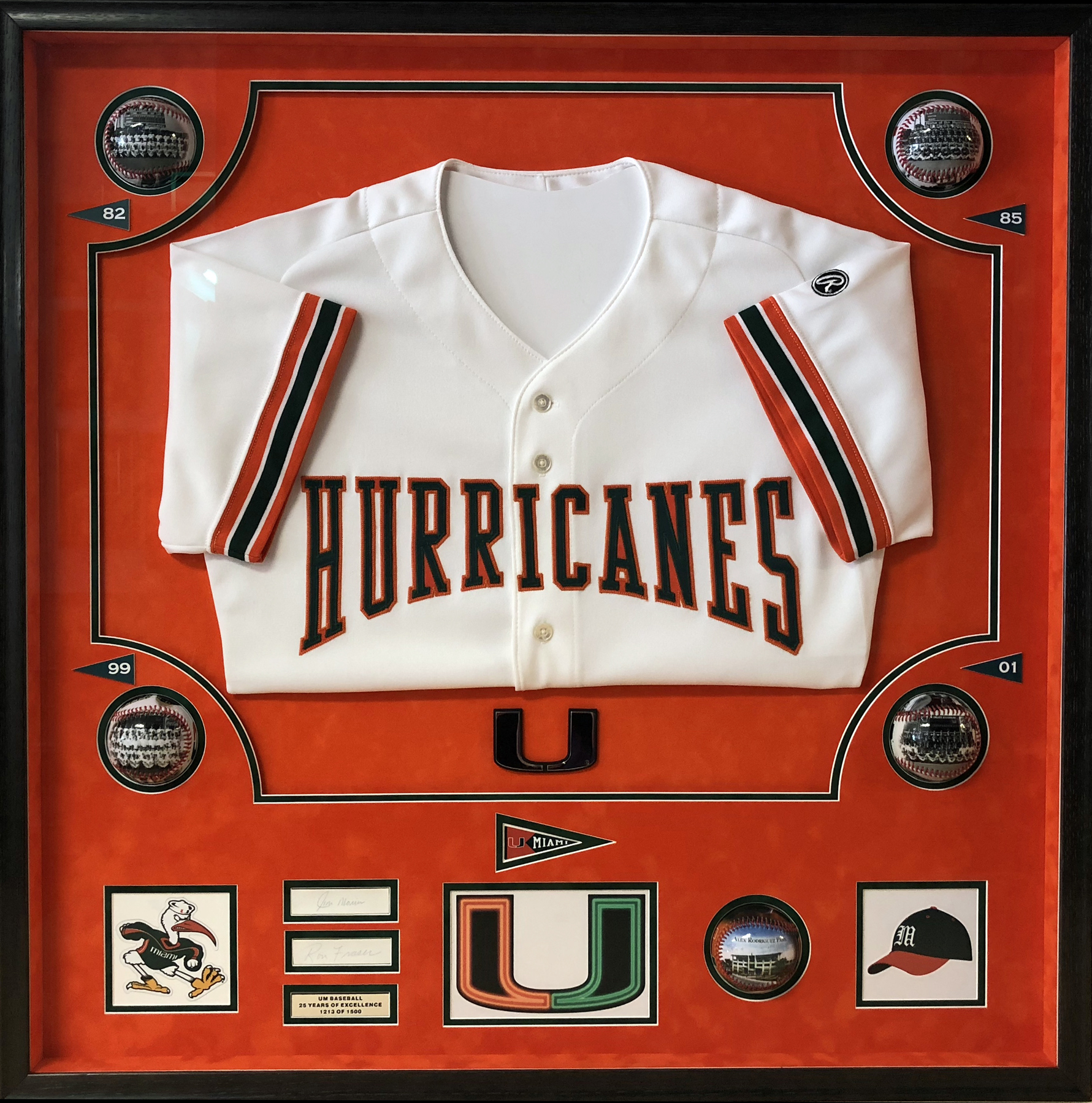 Hurricanes Jersey Shadow Box Resized