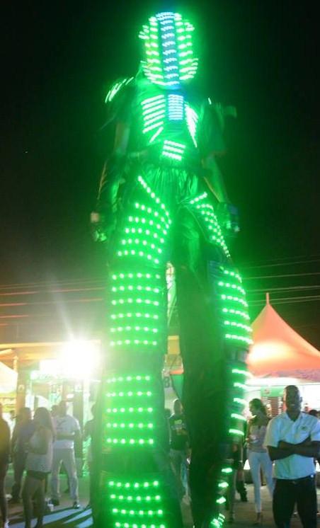 A high tech, stilt walker illumines the Fantasy 'Blockbuster' atmosphere.jpg