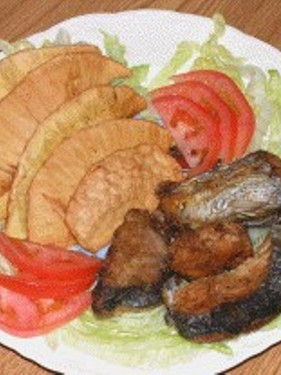 Recipe: The National dish of St. Vincent and the Grenadines, Roasted Breadfruit and Fried Jack fish