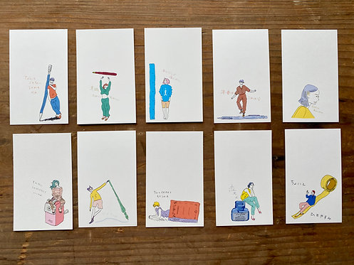 ichigon hank card -文具乙女津々浦々編-