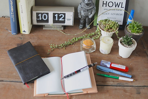 【online workshop】leather pocket note cover