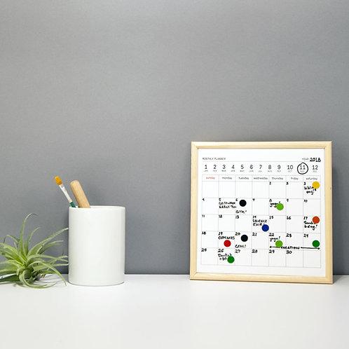 "White Board Calendar ""S"""
