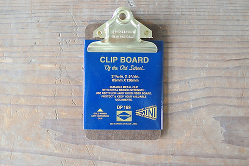 Clip Board O/S Gold Mini