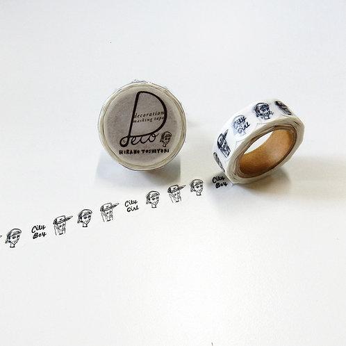 ヒラノトシユキ マスキングテープ  15mmサークルカット