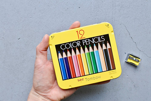 ミニ色鉛筆12色