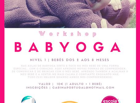 Babyoga- Workshop para bebés dos 2 aos 8 meses