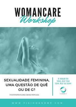 Workshop Sexualidade feminina, fisioterapia pélvica