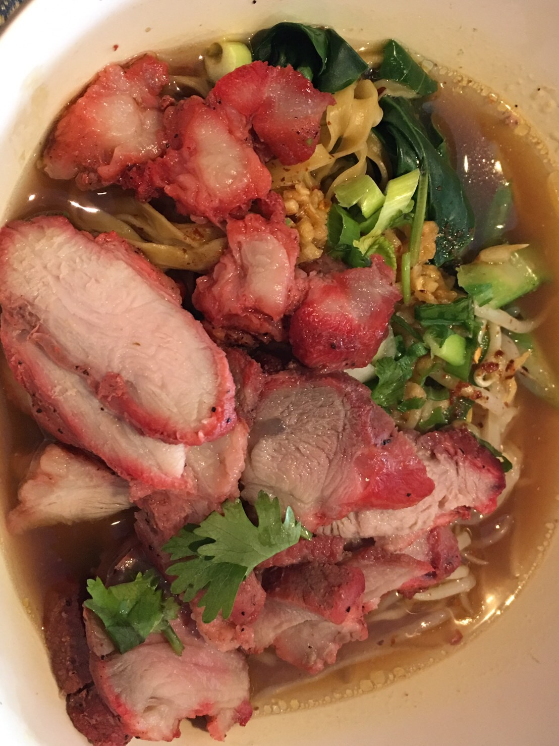 Roast Pork Noodles Soup