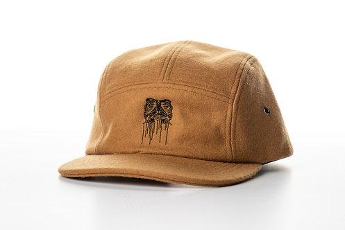 BROWN WOOL 5 PANEL CAP