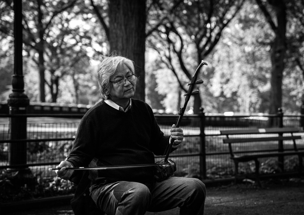 Central Park Playing a Erhu