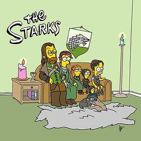 The Starks__#simpsons #cartoon #houseofs