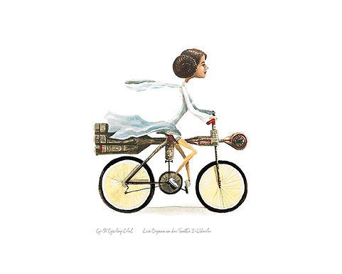 Princess Leia on Tantive IV bicycle