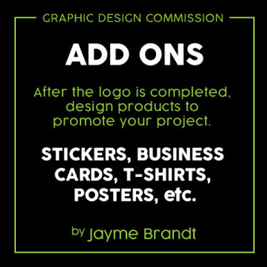 Add Ons - Graphic Design Commission