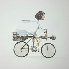 Cy-Fi Cycling Club watercolor illustrati