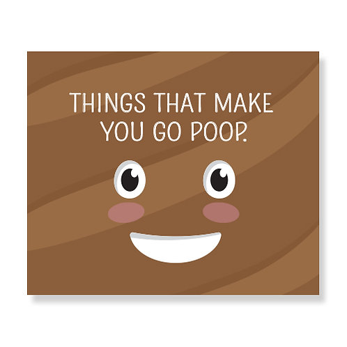 Things That Make You Go Poop Book