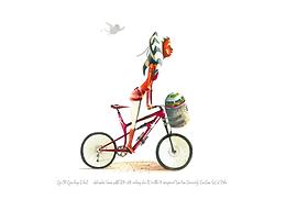 Ahsoka Tano with R7-A7 riding her Delta-7 inspired Salsa Cassidy Carbon SLX Bike