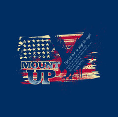 Grunge Eagle Mount Up