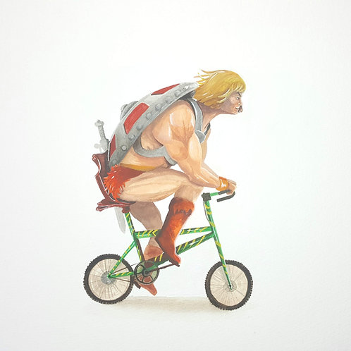 He Man Riding on his Battle Cat Bicycle