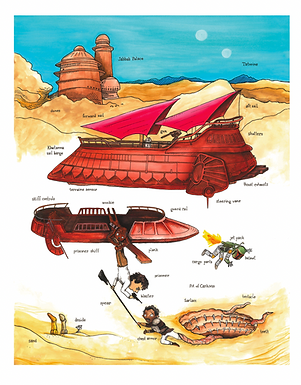 The Best Rescue Ever : Richard Scarry + Star Wars Mashup