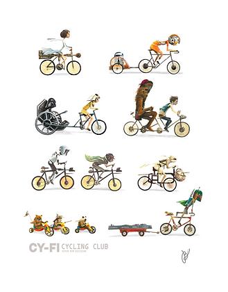 Cy-Fi Cycling Club Poster