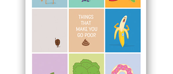 """Poop"" Book & Poster Bundle"
