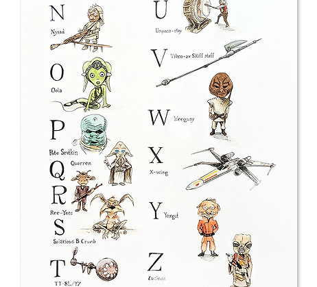 Alphabet N-Z :Richard Scarry + Star Wars Mashup Part 2