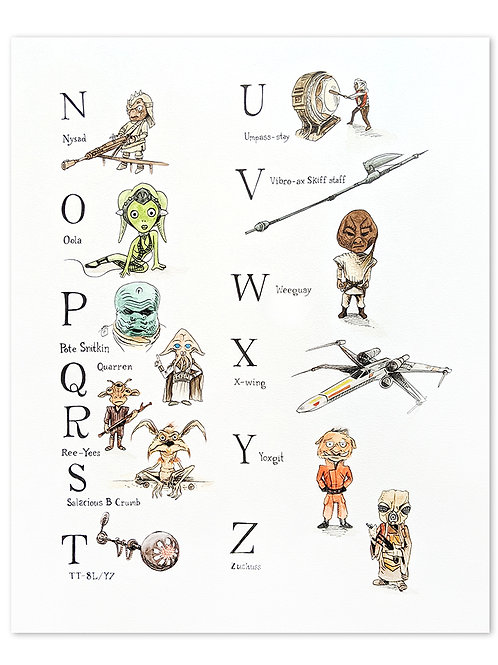 Alphabet N-Z :Richard Scarry + Star Wars Mashup Part 2