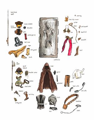 Star Wears : Richard Scarry + Star Wars Mashup