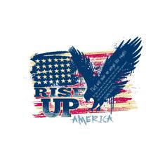Grunge Eagle Rise Up
