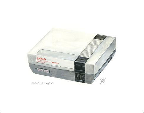 NES - Nintendo History Print