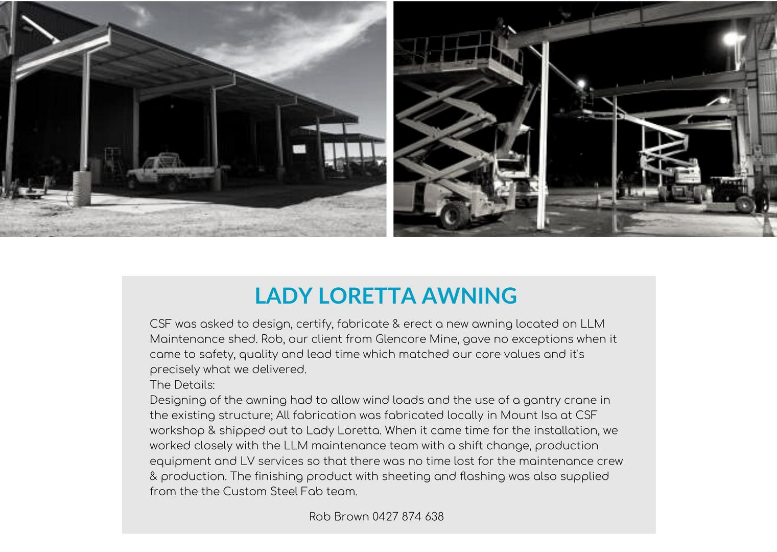 Lady Loretta Awning