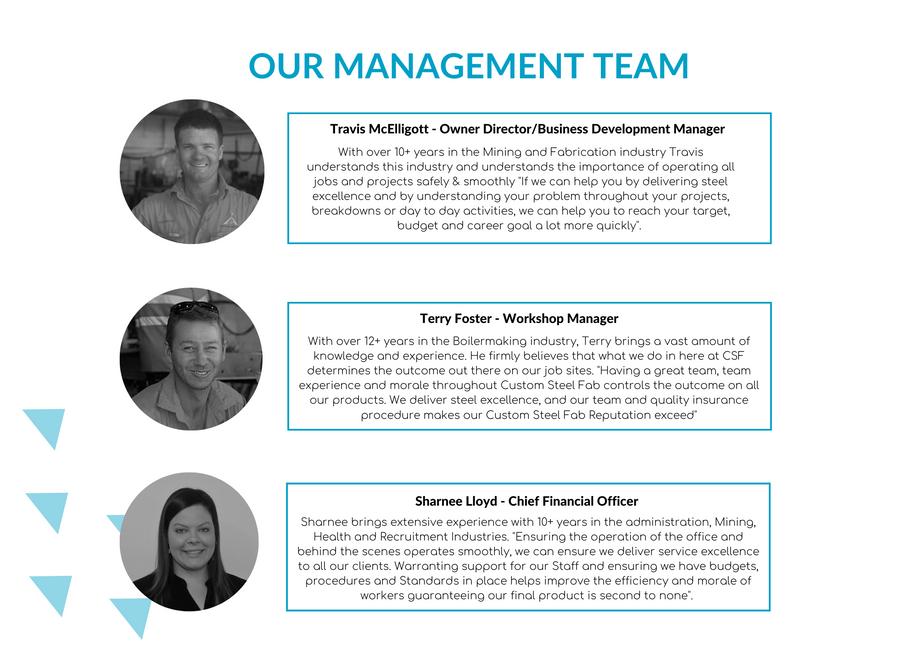 Our management team