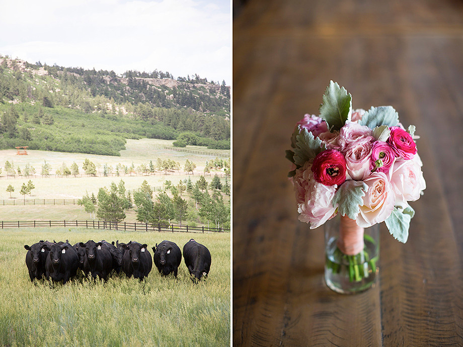 Flowers for Spruce Mountain Ranch Wedding in Colorado