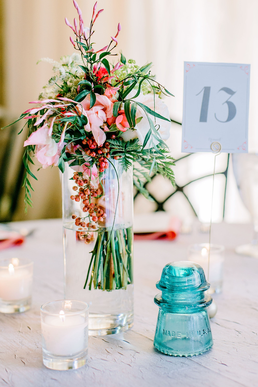 Flower Arrangements for Denver Botanic Gardens Wedding