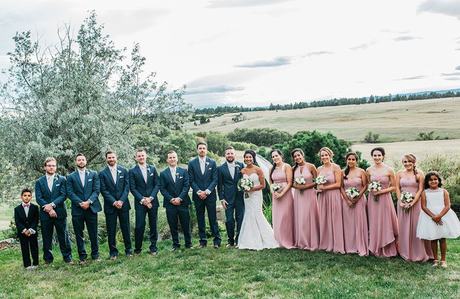 Tia and Austin - Private Residence - Colorado Wedding Florals