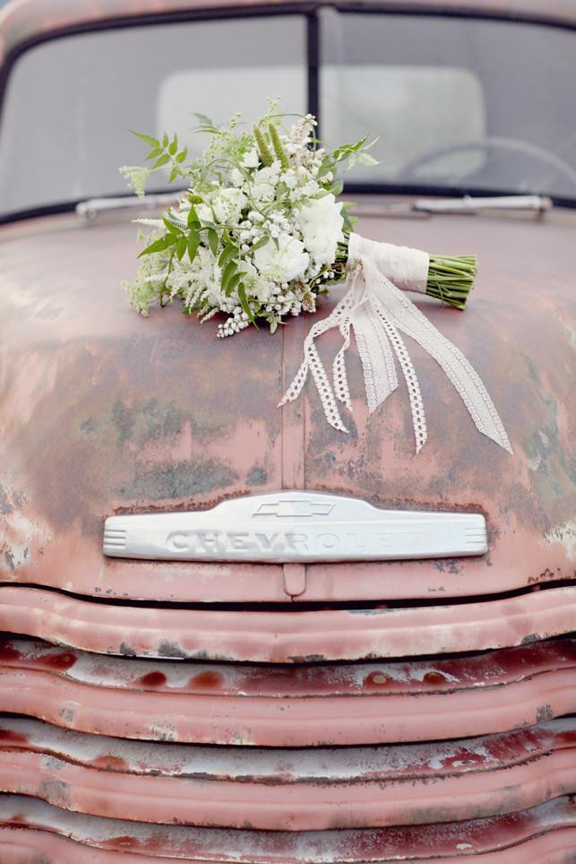Colorado Springs Wedding - Flowers on Truck