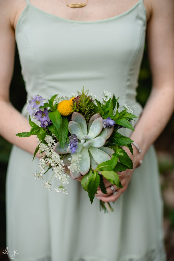 Bridal Bouquets Denver - Natural Bouquets with Succulents and Wildflowers