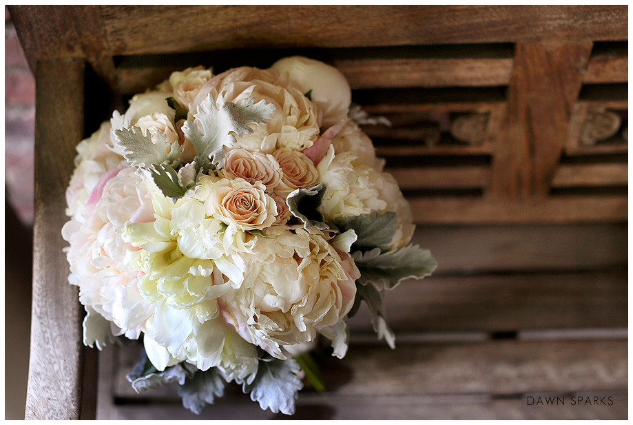 Bridal Bouquets Denver - Roses in Peach and White